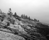Pemaquid-Lighthouse-and-rocks_B-W 02017