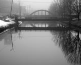 bridge-over-lewiston-canal-in-fog_B-W 02032