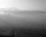 fog-and-light-along-highway_B-W 02024