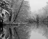 snow-covered-trees-along-Sabattus-River_B-W 02010