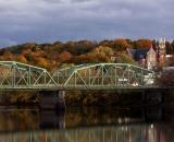 Bernard Lown Bridge and Saint Louis Church in Autumn