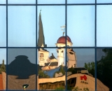 county-courthouse-cupola-and-Court-Street-Baptist-Church-steeple-reflected-in-windows_AUB 025