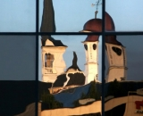county-courthouse-cupola-and-Court-Street-Baptist-Church-steeple-reflected-in-windows_AUB 026