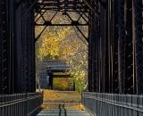 Autumn shadows on the Foot Bridge