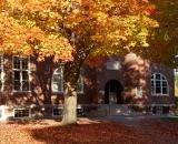 Hedge Hall with fall foliage
