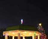 Kennedy Park gazebo and Christmas tree