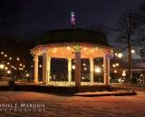 Kennedy Park gazebo lighted at Christmas