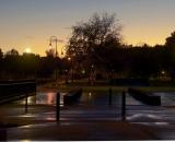 Entrance to Simard-Payne Park after a rain - 01