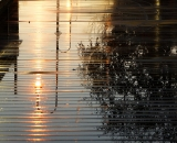 Footbridge to Simard-Payne Park after a rain - 02