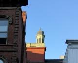 Lewiston City Hall cupola from Lisbon Street