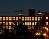 Mill 6 building at night