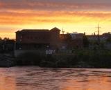 Sunrise above the Falls in Lewiston