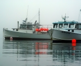 fishing-boats-at-anchor-with-red-bouys-Cutler-Harbor_DSC07759