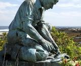 Fisherman's statue on Bailey's Island
