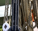 Rigging ropes on a tall ship