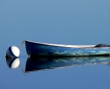 blue-skiff-tied-to-bouy-at-Pine-Point_COS 217