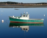 fishing-boat-with-reflection-at-low-tide-at-Pine-Point_COS 223