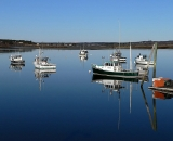 fishing-boats-with-reflection-at-low-tide-at-Pine-Point_COS 227