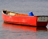 red-canoe-tied-at-bouy-at-Pine-Point_DSC01906