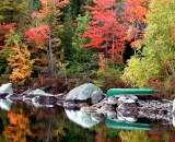 fall-foliage-canoe-on-lake-shore_ 118