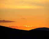Sunset over mountains in Rangeley