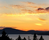 Sunset Over Rangeley Lake