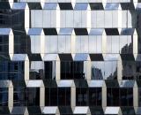 Mirrored skyscraper facade-01