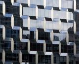 Mirrored skyscraper facade-02