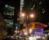 Street vendor at night