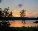 Sunset over Androscoggin Riverlands State Park