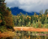 Baxter-State-Park-pond-with-mountain-shrouded-in-fog_DSC00060