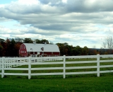 white-fence-and-red-barn-at-Pineland-Farms_DSC02615