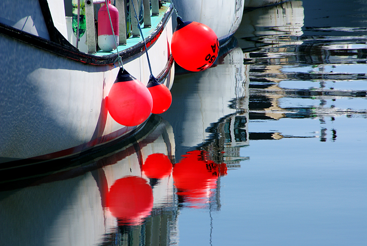 boats-with-red-bouys-in-portland-harbor